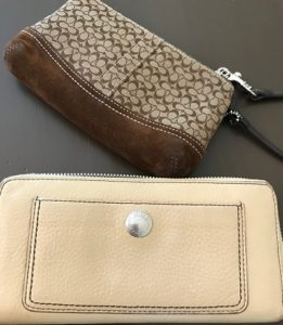 coach leather wallet cleaning