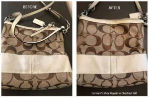coach bag restoration Chestnut Hill Philadelphia Carman Shoe Repair